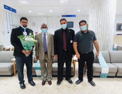 Ambassador's visit to Sheikh Khalifa Medical City, Abu Dhabi to wish quick recovery of Mr. Ruwan Lakshitha