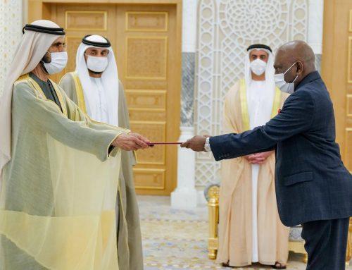 Ambassador Malraj de Silva Presents Credentials to the United Arab Emirates